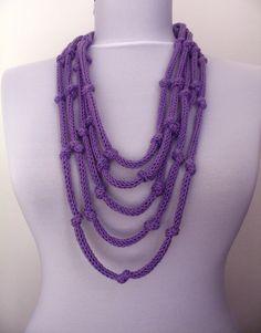 30 OFF SALE  Knit Necklace  loop infinity scarflette  by DreamList