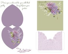 Free-printable card-N-pocket to make and give when your giving a bouquet from your flower garden