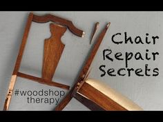 Learn key chair repair tips from an experienced woodworker. Scott has fixed many chairs and in this video he shows some of the tools and tips to fix wooden c. Diy Furniture Repair, Chair Repair, Repurposed Furniture, Furniture Makeover, Restoring Furniture, Furniture Refinishing, Painted Furniture, Woodworking Shop Layout, Woodworking Desk