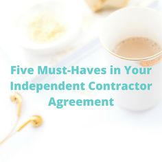 If you work in the online business work, you likely work with or you are an independent contractor. Be sure you have these terms in your contracts.