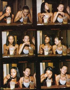 Kate Moss and Naomi Campbell eating ramen together. | 51 Reasons Why Supermodels Were Better In The '90s