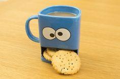 Dunk Mug Biscuit Pocket Mug Googly Eye Ceramic Cookie Milk Mug Coffee Mug