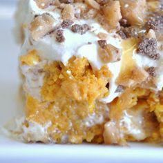 Pumpkin Poke Cake - looks delicious!!!  :}