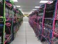 Hosting Center, the colours of the cables are quite artisitc
