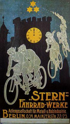 Vintage Bicycle Posters: Stern Fahrräd-Werke, via Flickr.