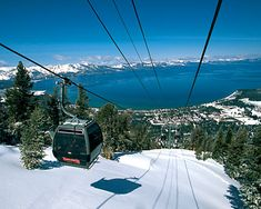Lake Tahoe - Skiing on top of a mountain, and seeing the bright blue lake... it is a priceless experience. Even with 100 people flying past on the slope, it still sounds and feels like you are the only one in the world experiencing it....