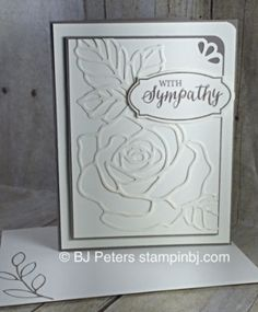 234 best cards sympathy images on pinterest cardmaking making handmade sympathy card featuring rose wonder embossing folder line art rose stampin solutioingenieria Images