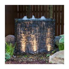 19 ideas outdoor patio wall water features for 2019 Modern Water Feature, Diy Water Feature, Outdoor Water Features, Backyard Water Feature, Water Features In The Garden, Small Water Features, Backyard Patio Designs, Backyard Landscaping, Landscaping Ideas