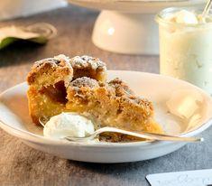 Vorsicht, dieser Apfelkuchen birgt höchste Suchtgefahr! No Bake Desserts, Apple Pie, Cereal, Pudding, Sweets, Cooking, Breakfast, Recipes, Food