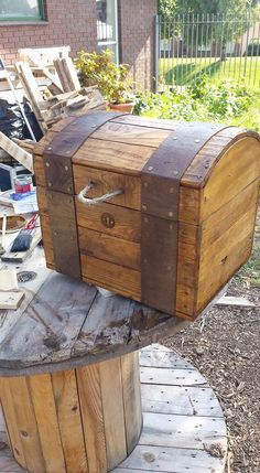 Treasure Chest Out of Repurposed Pallet Wood Pallet Boxes & Chests