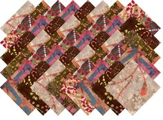 "BATIK VARIETY #6 COLLECTION 40 Precut 5"" QUILTING FABRIC SQUARES"