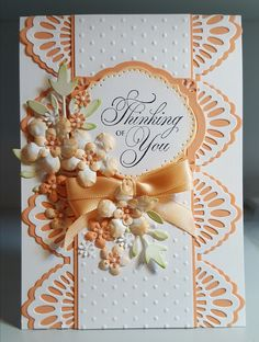 Apricot die cut card
