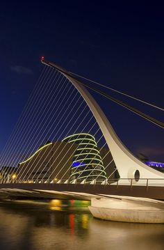 Samuel Beckett Bridge in Dublin, so I guess as theatre majors we'll have to see it, right?