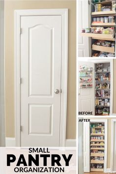 Learn how to maximize your space with these pantry organizing ideas. Youll be amazed at how much you can fit into a small pantry. Having an organized pantry with pull-out shelves will save you time and make dinner prep so much easier. Kitchen Organization Pantry, Pantry Remodel, Pantry Redo, Kitchen Organization, House, Narrow Pantry, Pantry Cupboard, Kitchen Pantry Cabinets, Pantry Design