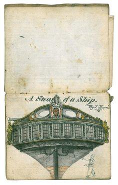British Ship Carpenter and Modelmaker's Handbound Notebook, early 19th C