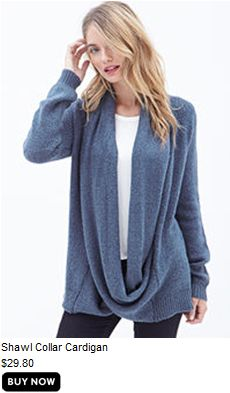 Shawl Collar Cardigan from Forever 21