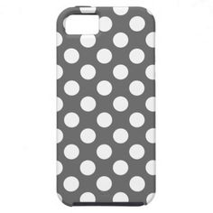 Charcoal and White Polka Dots iPhone 5 Cover