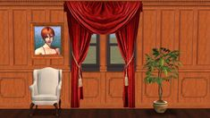 Re-colours of my transparent curtains, this time with a Gothic style. Gothic Fashion, Sims, Colours, Curtains, Home Decor, Style, Swag, Blinds, Decoration Home