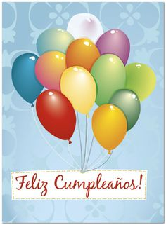 Spanish Birthday Cards Greetings Wishes Happy Balloons Birthdays