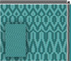 Eva Stossel | Blue Ridge Scarf | parallel threading + networked treadling | 8-shaft, 8-treadle
