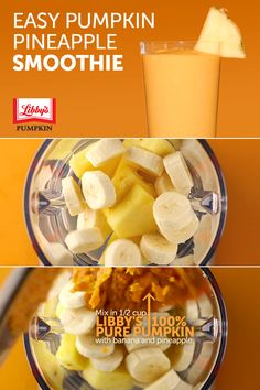 Kick start your week with a healthy smoothie! #PumpkinCan add fiber to this tasty, nutritious treat.