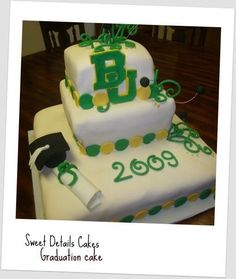 Nicely done #Baylor graduation cake! #sicem