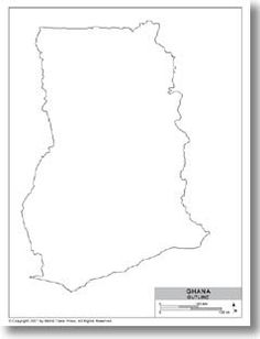 Ghana.....Outline Map of Ghana by CountryBusinessGuides.com