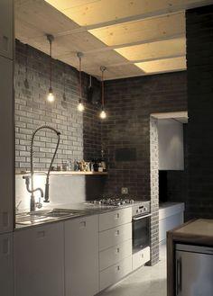Masculine Kitchen Design AtThe Orangery house extension by Liddicoat & Goldhill