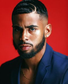 Sharing photos of black men to combat the erasure in the beard movement. Waves Hairstyle Men, Waves Haircut, Men In Black, Cute Black Guys, Black King, Black Boys, Black Men Haircuts, Black Men Hairstyles, Men's Haircuts