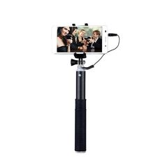 The 2015 SENTAR Wired Connected Selfie Stick and Mini Tripod is a brand new and improved monopod for straightforward use in personal photography. Simply, plug the wire into the 3.5mm audio jack on your mobile phone and take photos with the built-in shutter button.