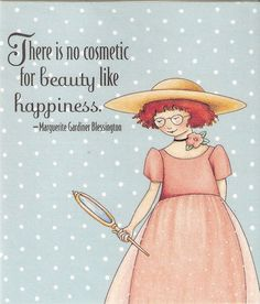 There's No Cosmetic For Beauty Like Happiness Magnet Artwork By Mary Engelbreit