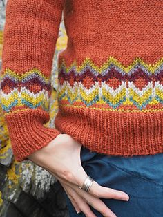 Fair Isle sweater pattern from Bristol Ivy. 'Second Grace' uses multiple strands of The Fibre Co Cumbria yarn. Sweater Knitting Patterns, Knitting Stitches, Knitting Socks, Free Knitting, Vogue Knitting, Knitting Machine, Vintage Knitting, Vintage Crochet, Icelandic Sweaters