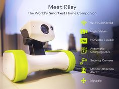 Riley the Robot – Smart Robot, House Robots – Home Robot 2017 Smart Robot, Robot Design, Home Gadgets, Augmented Reality, Fitness Tracker, Security Camera, Smart Home, Hd Video, Cool Toys