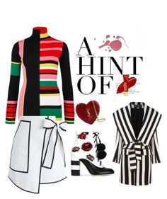 """""""stripes lines and a pow!"""" by outerego on Polyvore featuring Kenzo, Chicwish, GEDEBE, Yves Saint Laurent and Balmain"""