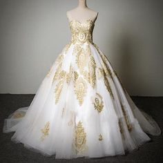 Vestido De Noiva Vermelho Cheap Popular Classic Sweetheart Gold Lace White Custom Made Tulle Wedding Party Dresses Informal Wedding Dress Lace Ball Gown Wedding Dresses From Conniefox, $135.68| Dhgate.Com