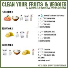 More natural ways to clean your produce..  Now that you have more ideas, never use chemical-filled sprays again which are very harmful to you and your family.. Don't forget to SHARE these tips!
