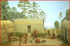 Tuscarora Indians in North Carolina | Photo courtesy of the Universityof Michigan Exhibit Museum)