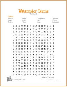 Printables Free Art Worksheets grid art worksheet artsy pinterest worksheets animal free printable word search for watercolor terms creative resources elementary education