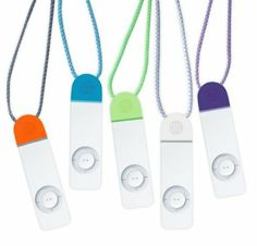 DLO Coolcaps for Ipod Shuffle  Accessorize the iPod in a colorful way! Perfect stocking stuffer!