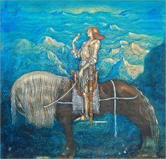 John Bauer A knight Poster | Posterlounge