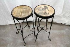 Antique ice cream parlor stools