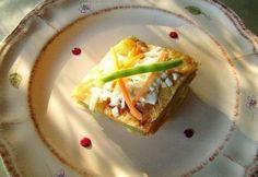 Parmezános-mascarponés zöldség gratin római tálban Tacos, Mexican, Ethnic Recipes, Food, Gratin, Meal, Essen, Hoods, Meals