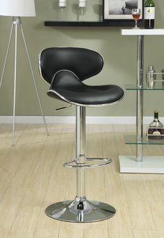 Item #: 120359 www.ashleydeals.com/black-bar-stool-coaster-120359.html #Black #Chrome #Adjustable #Swivel #Barstool #Chair #Coaster #Furniture #Business #Online