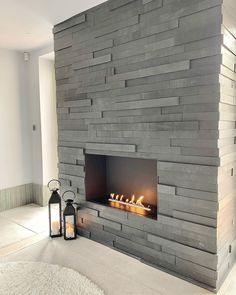 One of 3 installs at @home_at_holwell, this delicate linear fireplace sits proudly in the bold stone surround, bringing a quiet calm to the lounge space. Linear Fireplace, Modern Fireplace, Fireplace Wall, Wall Fireplaces, Modern Luxury, Modern Contemporary, Wall Design, Lounge, Delicate