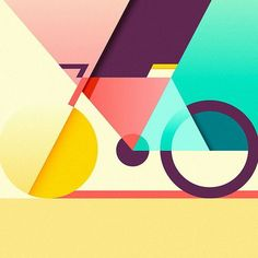 Colorful and geometrical piece of art by award winning illustrator @ray_oranges