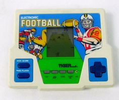 Electronic Football (Tiger Electronics,1987) Tested / Vintage LCD Handheld Game #Tiger Retro Video Games, Football, Nintendo Consoles, Vintage, Soccer, Futbol, American Football, Vintage Comics, Soccer Ball