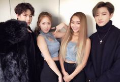 """161231 [#MONSTA_X] #MonstaX 2016 #MBCGayoDaeJeJeon Special Stage #SexyMen stage completed✔ #Jooheon #IM #Hyolyn #Soyou Thank for cheering our stage on! 💕 """"translated by fymonsta-x ϟ take out with full credit. """""""