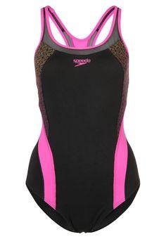 Speedo PINNACLE KICKBACK Badeanzug black/pink für Damen