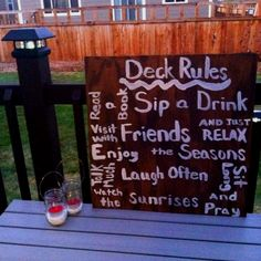 Patio sign!