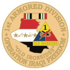 "US Army 1st Armored Division Operation Iraqi Freedom 1-1/8"" Lapel Pin by Army Lapel Pins. $4.29"